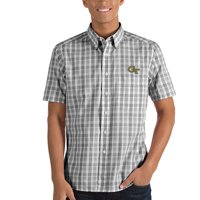 GA Tech Yellow Jackets Antigua Crew Woven Button-Down Shirt - Black/White