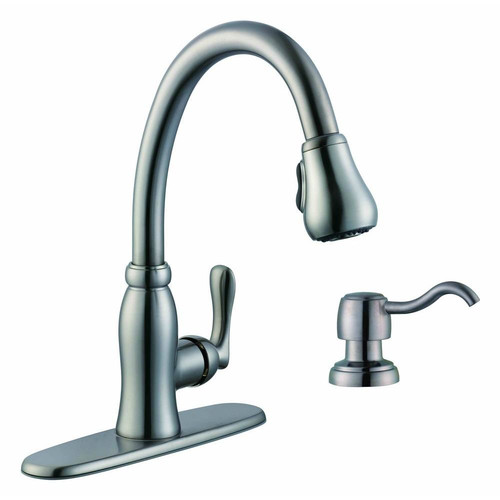 Pegasus Pavilion Single Handle Kitchen Faucet With Soap Dispenser