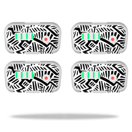 MightySkins Protective Vinyl Skin Decal for DJI Phantom 3 Battery Batteries (4 pack)wrap cover sticker skins Abstract Black