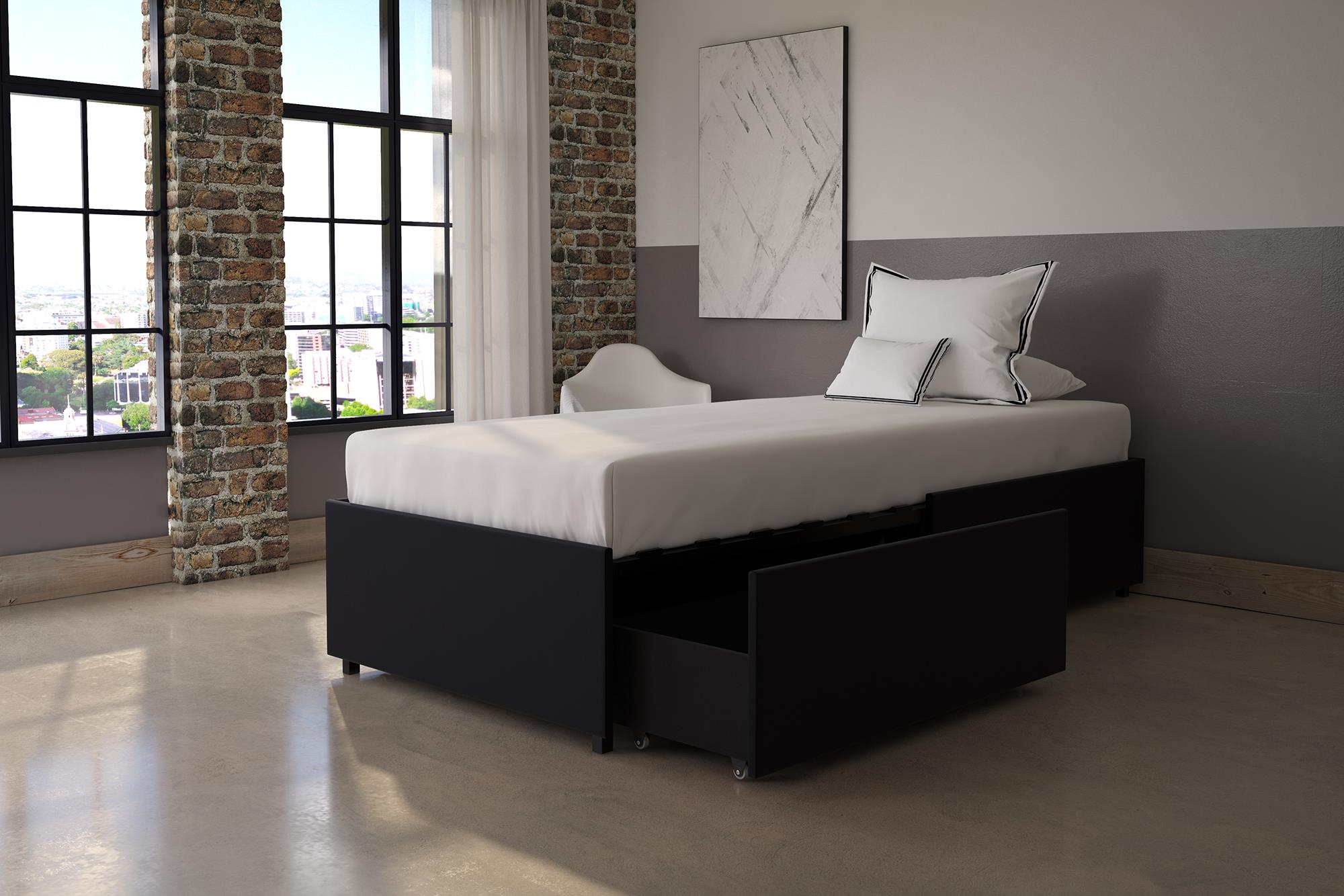 DHP Maven Platform Bed with Storage, Multiple Sizes and Finishes by Dorel Home Products