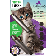 TWO! Pet Laser Pointer toy BATTERIES INCLUDED (for both) +Stays ON with one click - for Cats Dogs exercise training interactive play tool