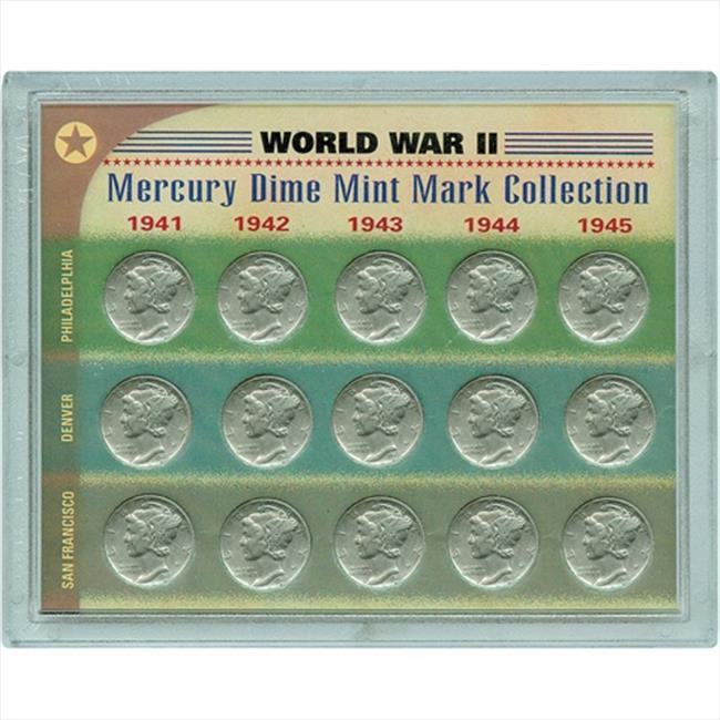American Coin Treasures 7043 World War II Silver Mercury Dime Mint Mark Collection