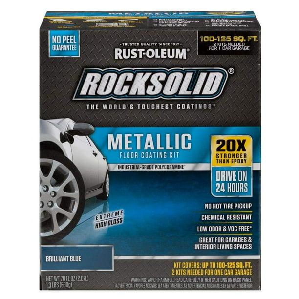 Rust Oleum Rocksolid Brilliant Blue Metallic Garage Floor