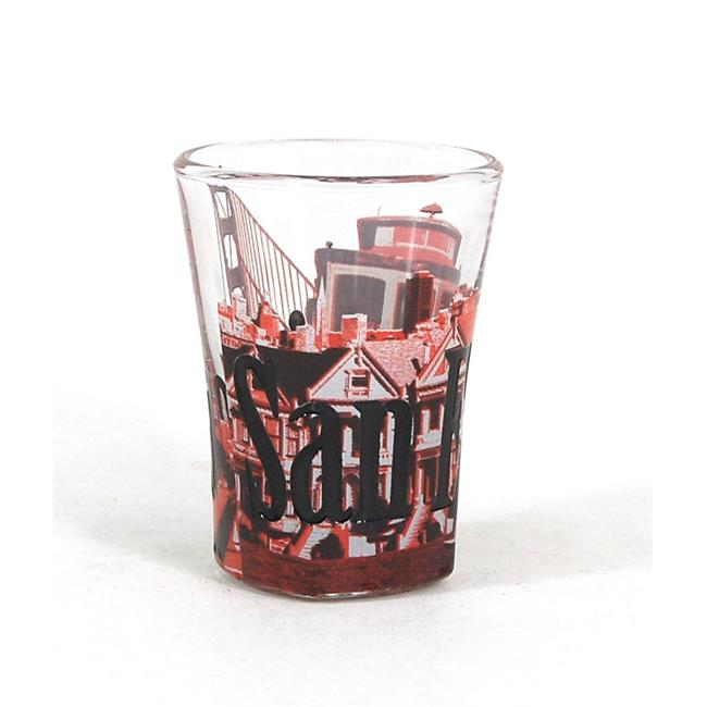 Americaware SGSFN01 San Francisco Duo Tone Etched Shot Glass by Americaware