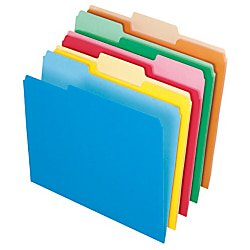 Office Depot File Folders, Letter, 1/3 Cut, Assorted Colors, Box Of 100, 97666 (Office Depot Nearby)