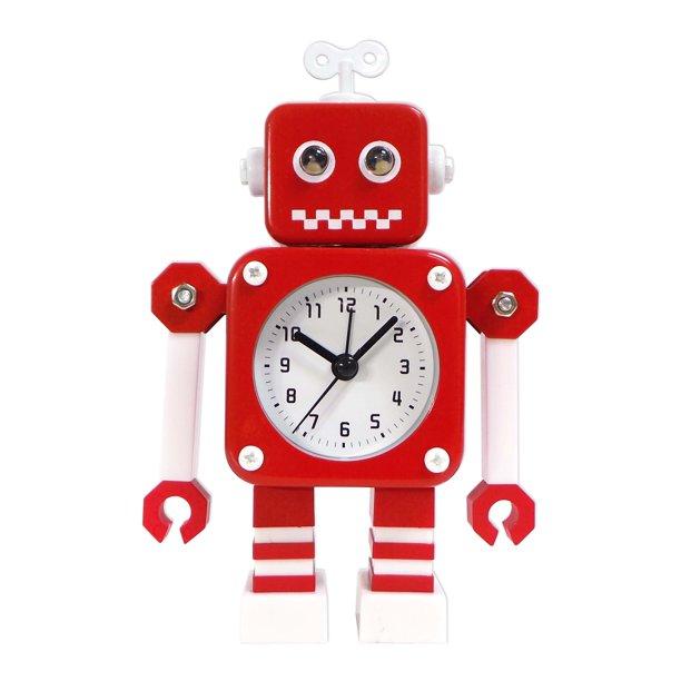 Better Homes and Gardens Metal Robot Alarm Clock, Red - Walmart