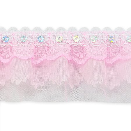 Expo Int'l 5 yards of Elenor Sequin Embellished Lace Trim 2 1/6
