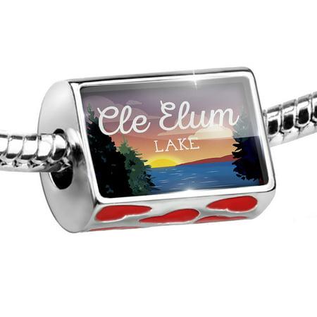 Bead Lake retro design Cle Elum Lake Charm Fits All European