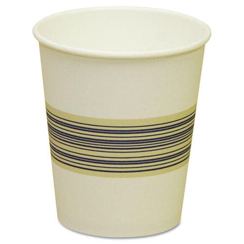 Boardwalk Paper Hot Cups, 10oz, Blue/Tan, 50/Bag, 20 Bags/Carton