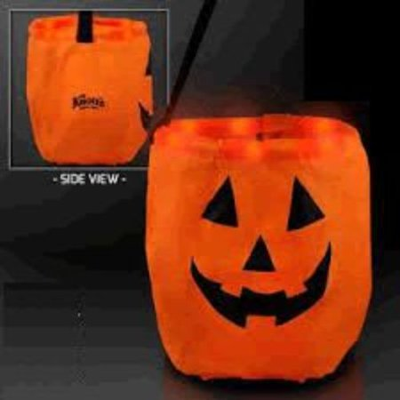 LED Halloween Trick or Treat Bag - Trick Or Treat A History Of Halloween