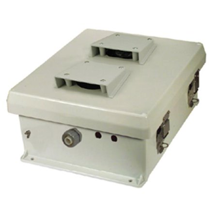 Hana Wireless HW-N12-V 12 x 10 x 5 in. Weatherproof Industrial Vented Enclosure With Aluminum Mounting Plate