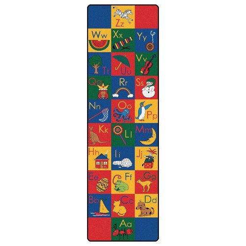 Carpets for Kids Printed ABC Phonic Horizontal Kids Rug