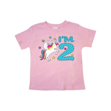 2nd Birthday Shirt (I'm Two- Unicorn Second Birthday Toddler)