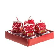 Gingerbread House With Snow Tea Light Candles Set Of 4