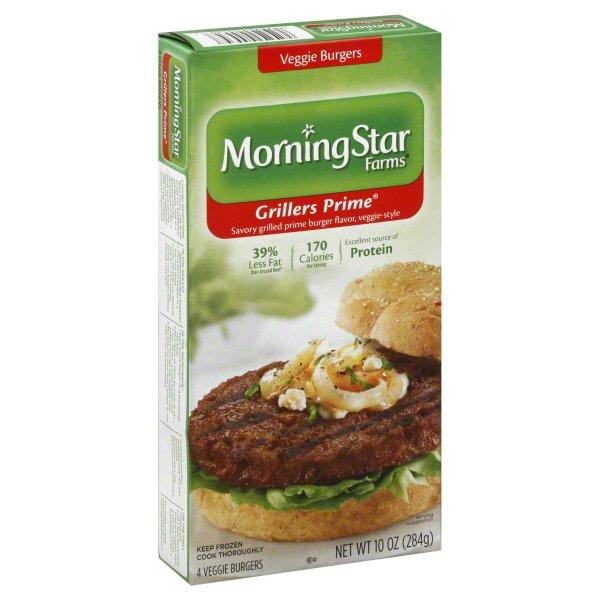 Morning Star Farms Grillers Prime Veggie Burgers 4ct Walmart Com Walmart Com