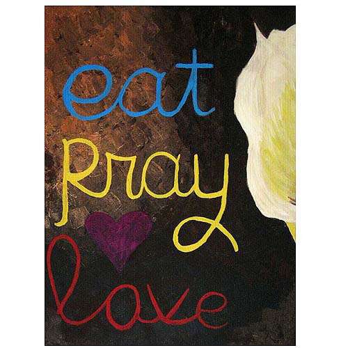 "Trademark Fine Art ""Eat Pray Love I"" Canvas Wall Art by Amanda Rea"