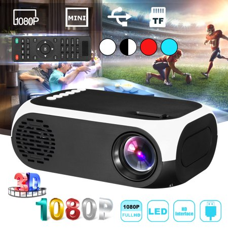 Grtsunsea Mini Projector Portable 1080P LED Projector Home Cinema Theater Indoor/Outdoor Movie projectors Support PC Smartphone for Party and (Best Portable Projector Under 200)