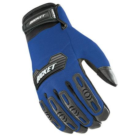 Velocity Gloves - Joe Rocket Velocity 2.0 Gloves Blue/Black (Blue, Large)
