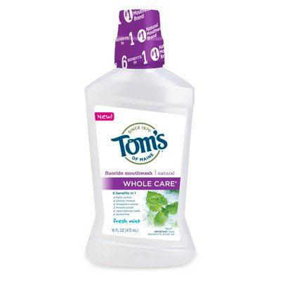 Tom's of Maine Whole Care Fresh Mint Mouthwash, 16 fl oz