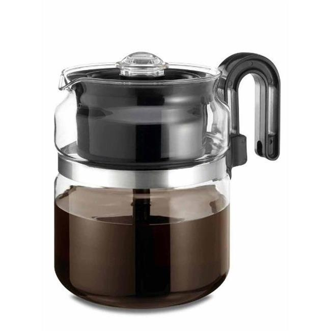 Medelco 1-PK008-BL-4 8 Cup Glass Stove-Top Percolator