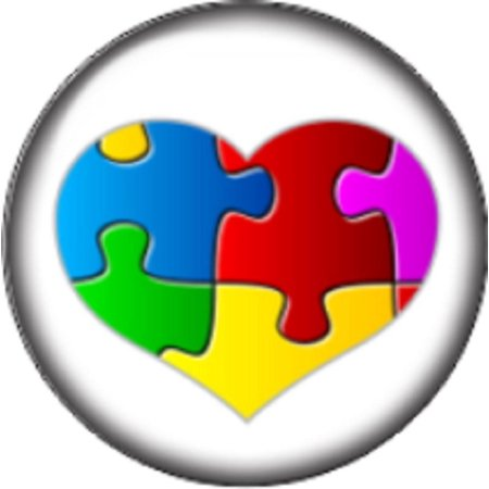 Snap Button Jewelry (Snap button Domed Autism heart puzzle Interchangable Jewelry )