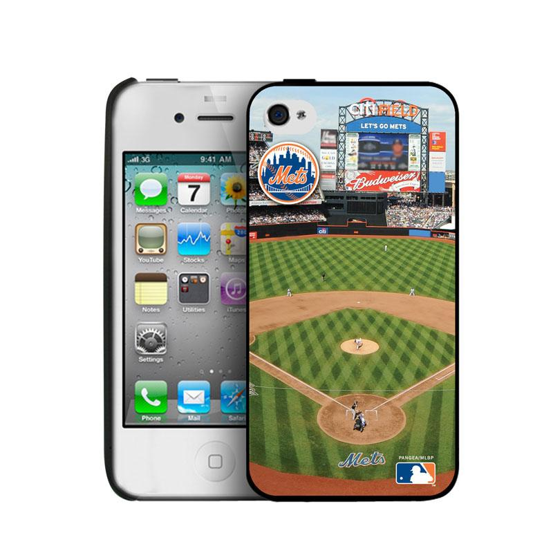 Iphone 4/4S Hard Cover Case - New York Mets New York Mets PANGBBNYMIP4BP