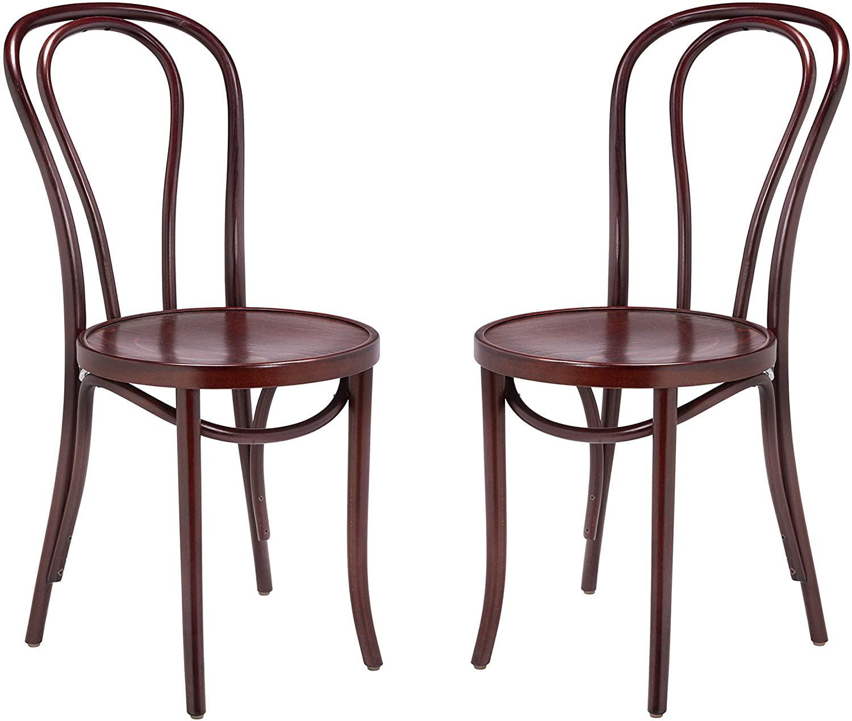 Handcrafted Custom Bent Mahogany Chair