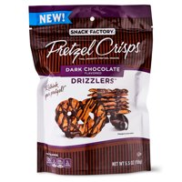 Snack Factory Pretzel Crisps, Dark Chocolate Drizzlers, 5.5 oz