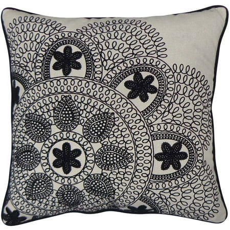 Ivory Lace Throw Pillow : Better Homes and Garden Black and Ivory Lace Decorative Pillow, Almond - Walmart.com