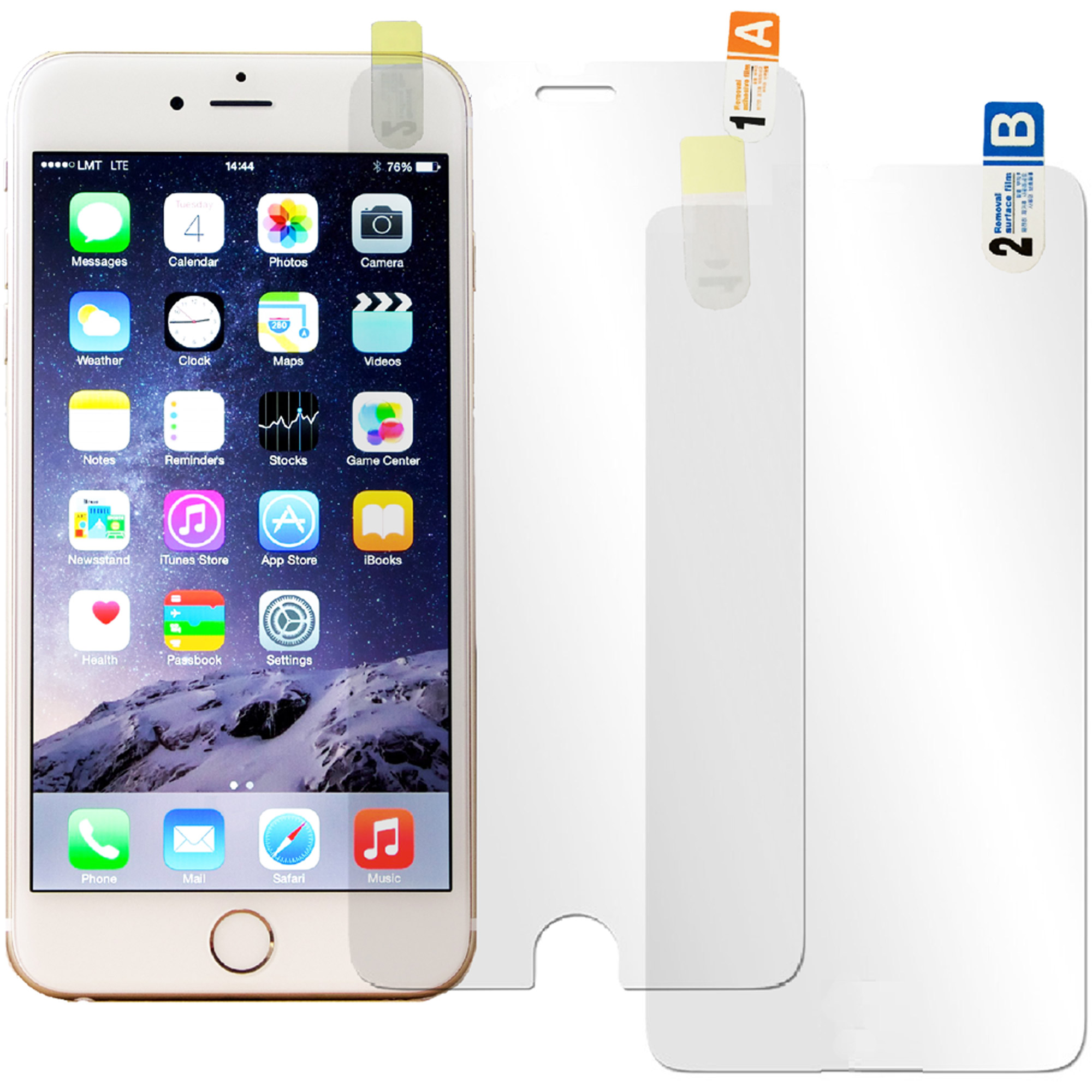 NIC Glasstic Crystal Hardness Screen Protector Film for Apple iPhone 6 Plus