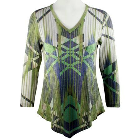 - Boho Chic - Across Town, Long Sleeve Asymmetric Hem Fashion Tunic Top