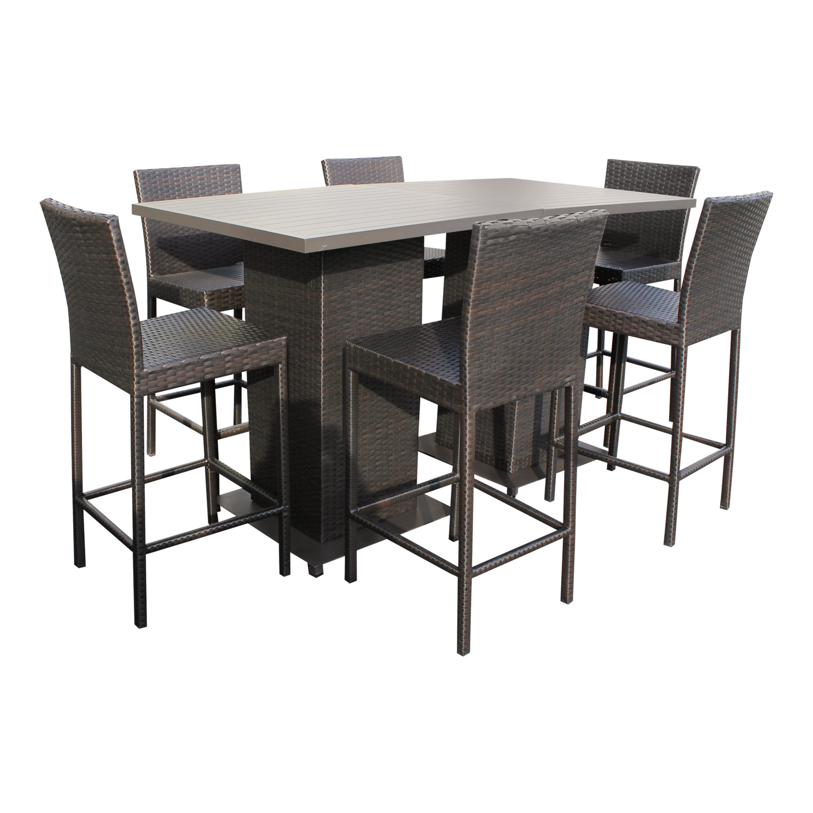 Marvelous Venus Pub Table Set With Backless Barstools 5 Piece Outdoor Wicker Patio  Furniture   Walmart.com