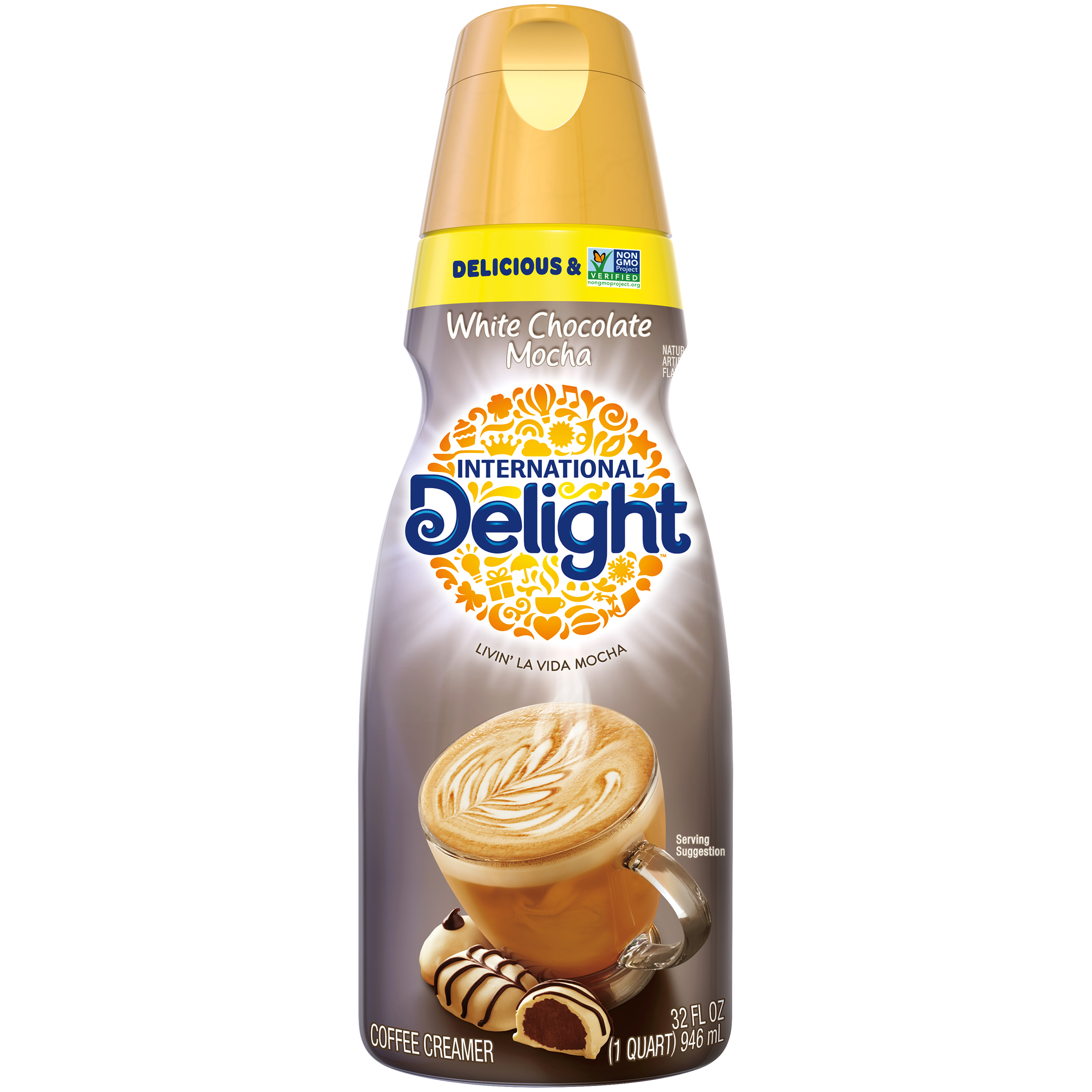 International Delight White Chocolate Mocha Coffee Creamer, 1 Quart
