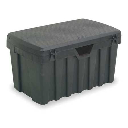 Contico Portable Tool Box, High Density Structural Foam, Black, 3725NL Non Slip Tool Box