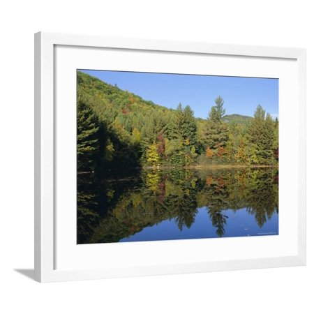 Lake Reflections Near Jackson, New Hampshire, New England, USA Framed Print Wall Art By Fraser