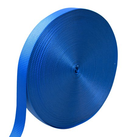 "AMP 4200lbs Rated Heavy Duty Industrial Nylon Fastening Webbing Strap 1"" Wide 70 Yards Blue"