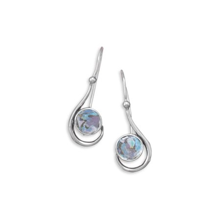- Ancient Roman Glass Earrings Small Handcrafted Sterling Silver