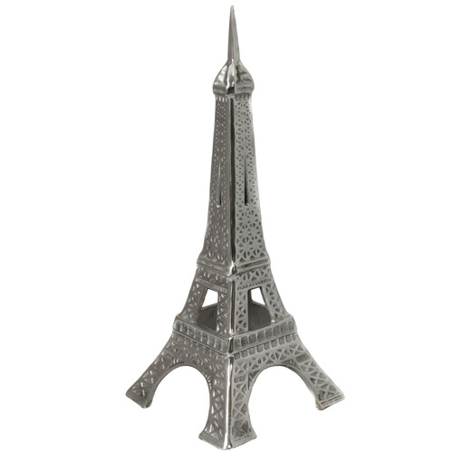EC World Imports Eiffel Tower Cast Aluminum Collectible Statue by ecWorld