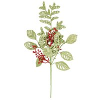 HOLIDAY TIME GREEN/RED PICK, 18 INCH