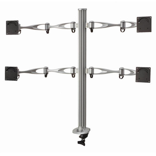 Cotytech Height Adjustable 4 Screen Monitor Desk Mount