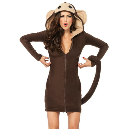Monkey Costume Women (Leg Avenue Women's Plus Size Cozy Monkey)