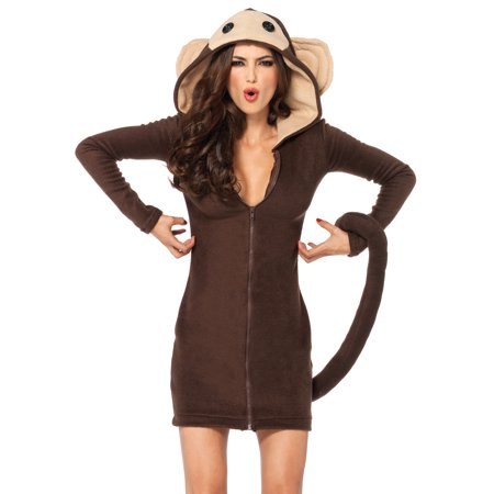 Leg Avenue Women's Plus Size Cozy Monkey Dress Costume - Womens Monkey Costume