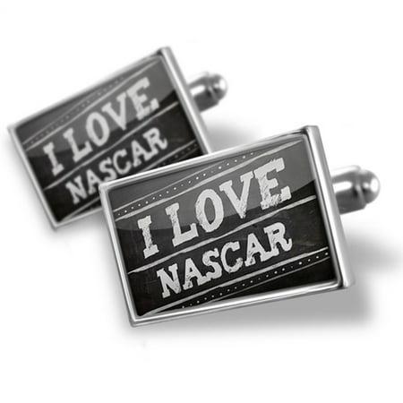 Nascar Board - Cufflinks Chalkboard with I Love Nascar - NEONBLOND