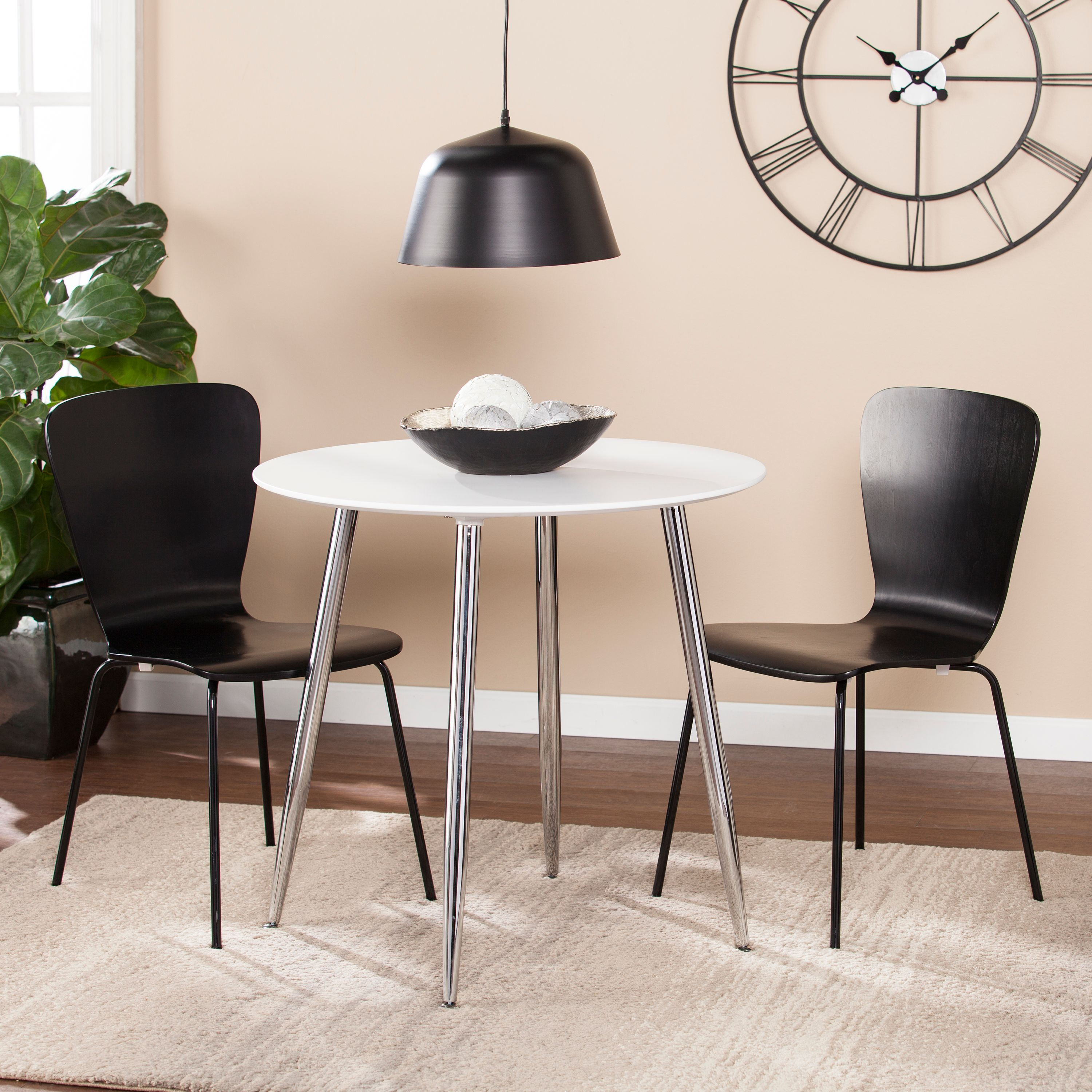Exceptionnel Southern Enterprises Mafflo Multifunctional Round Dining/Game Table, White