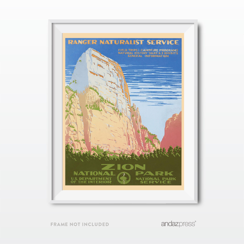 Zion National Park Vintage Government Wall Art Works Project Administration Walmart Com Walmart Com