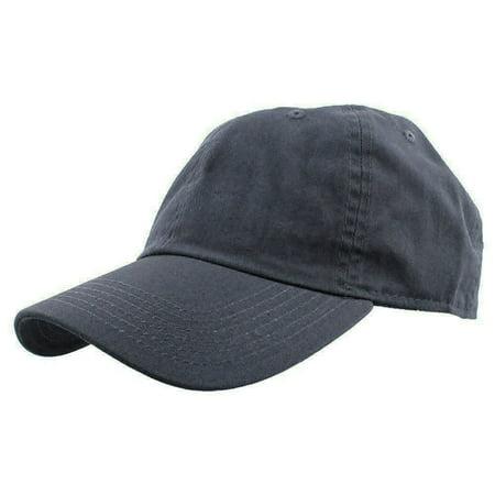 - Falari Baseball Cap Hat 100% Cotton Adjustable Size Charcoal