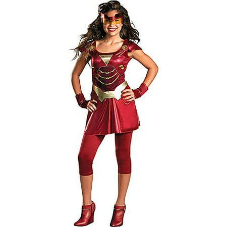 Iron Man II Iron Ironette Avengers Assemble JR Teen (7-9) - Quick College Halloween Costumes