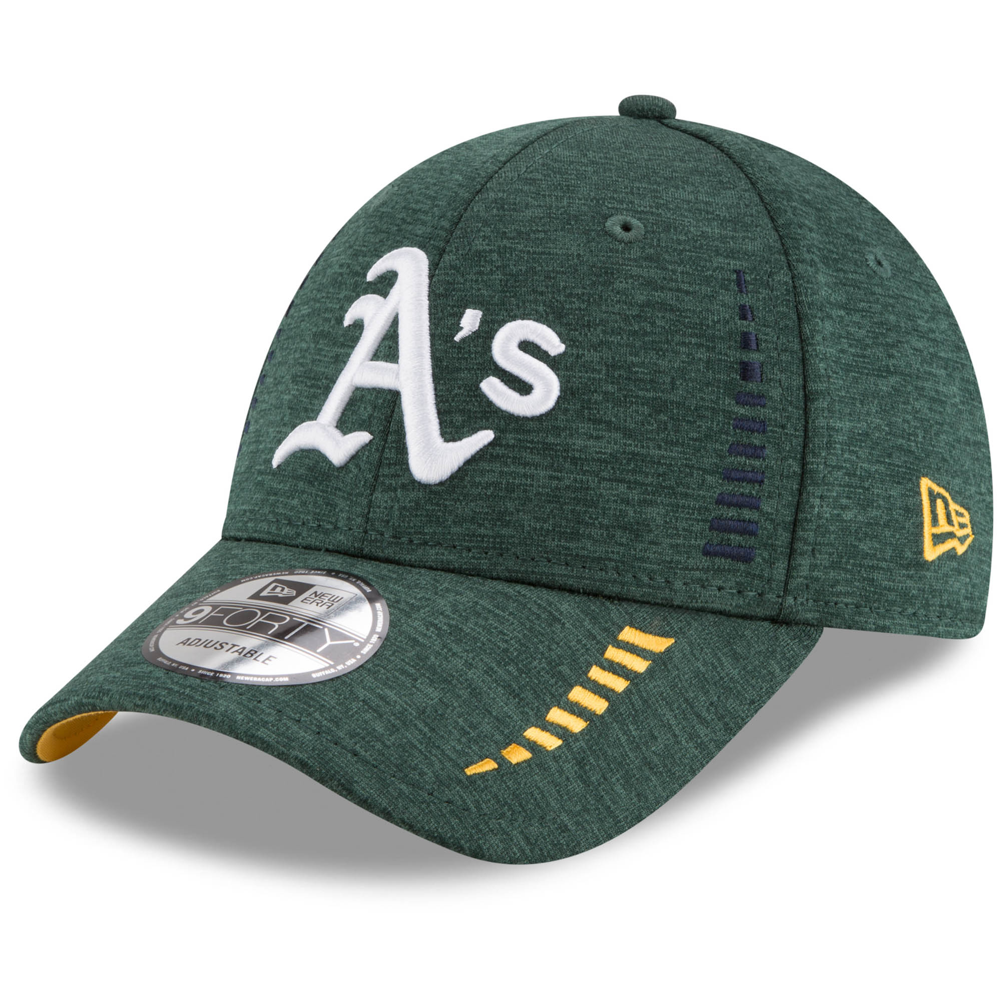 Oakland Athletics New Era Speed Shadow Tech 9FORTY Adjustable Hat - Green - OSFA