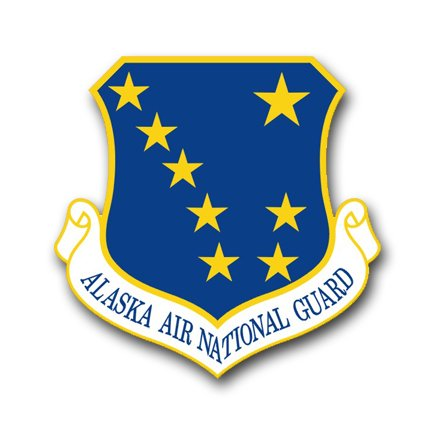 3.8 Inch Air Force Headquarters Alaska Air National Guard Vinyl Transfer Decal