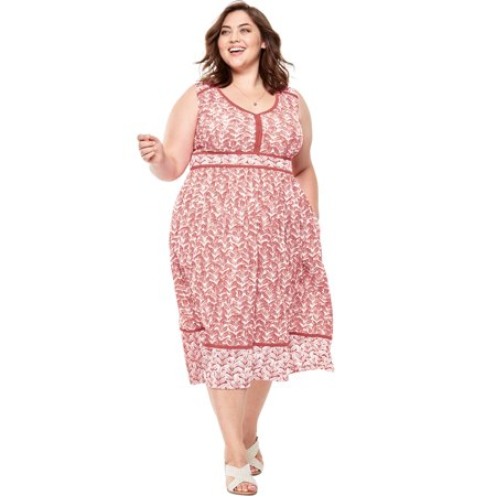 Watercolor Dresses (Woman Within Plus Size Mixed Print Midi)
